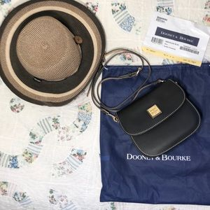 Dooney and Bourke Black Beacon Saddle Crossbody